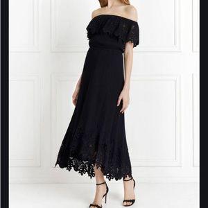 Make Offer Rachel Zoe Cleo Off Shoulder Maxi Dress